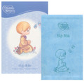 Bible ICB Precious Moments Blue Leathersoft