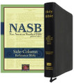 Bible NASB Side-Column Reference Black Genuine Leather