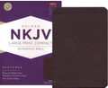Bible NKJV Large Print Compact Reference Brown Genuine Cowhide