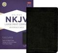Bible NKJV LP Compact Reference Black Bonded Leather
