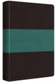Bible ESV Personal Ref. Dark Brown/Teal Trail Design TruTone