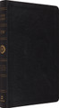 Bible ESV Large Print Thinline Reference Black Genuine Leather