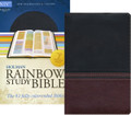 Bible NIV Rainbow Study Brown/Chestnut LeatherTouch