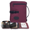 Bible Cover - Travel Organizer Burgundy XL