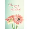Postcard - Praying For Your Quick Recovery! Daisies (pkg 25)