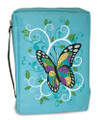 Bible Cover - Gem Butterfly Turquoise XL