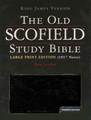 Bible KJV Old Scofield Study Large Print Black Bonded Leather
