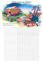 Noah's Ark Attendance Chart