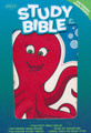 Bible NKJV Illustrated Study Bible for Kids Octopus LeatherTouch