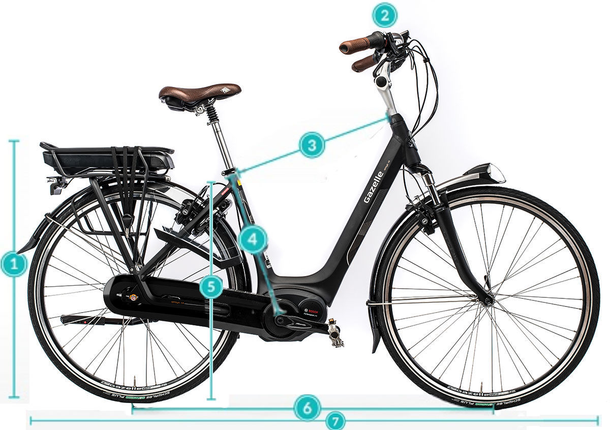 2018 Gazelle Easyflow Electric Bike - Jean/Blue