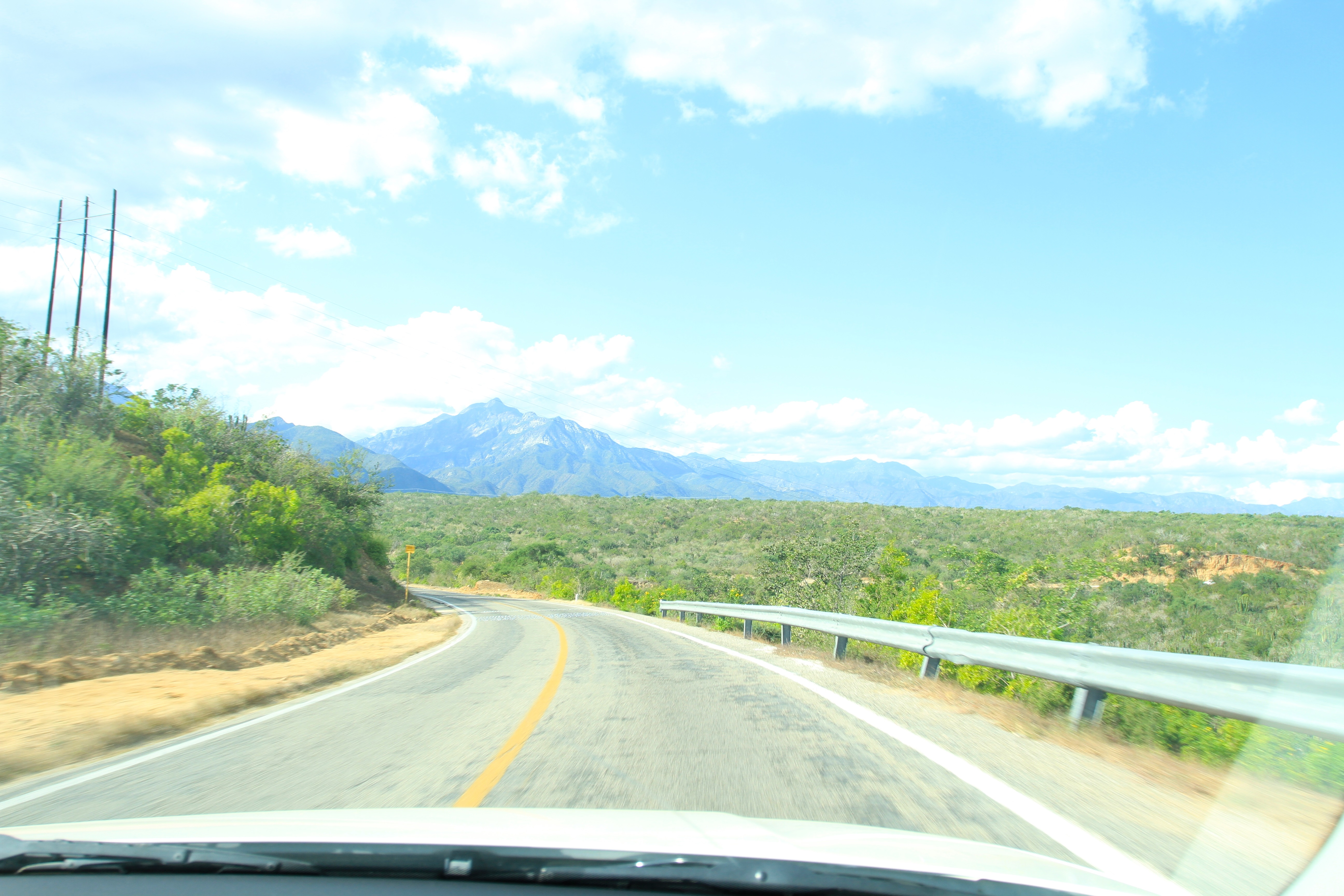 A view from the cockpit on the way to La Ventana