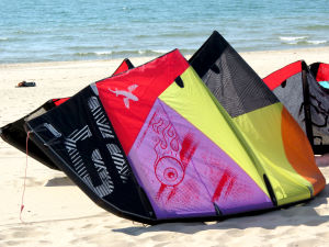 2013 Best TS lightwind kite pumped up on the beach