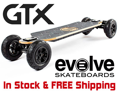 Evolve Electric Skateboards In Stock and Free Shipping.