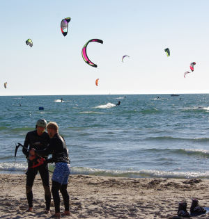 A great spot for kiteboarding