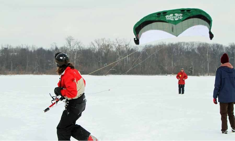 Learning to snow kite!