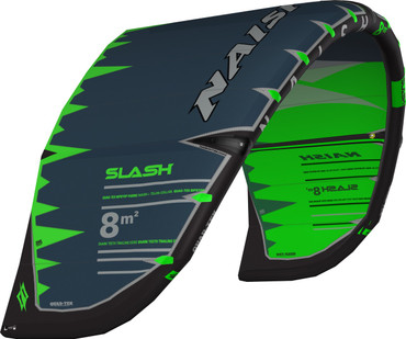 2019 Naish Slash Kiteboarding Kite - Green/Grey