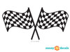 Racing Checkered Flags Fabric Wall Decal - Detailed - Sunny Decals