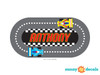 Racing Track with Custom Name Fabric Wall Decal - Detailed - Sunny Decals