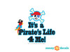 It's a Pirate Life For Me Fabric Wall Decal - Detailed - Sunny Decals