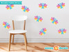 Rainbow Butterfly Fabric Wall Decals, Set of Nine Butterflies - Pastel Rainbow - Sunny Decals