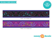 """Frozen Inspired Wall Border Fabric Wall Decal - Set of Two 25"""" x 4"""" Sections - Sunny Decals"""