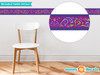 "Frozen Inspired Wall Border Fabric Wall Decal - Set of Two 25"" x 4"" Sections - Purple - Sunny Decals"