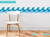 """Wave Wall Border Fabric Wall Decal - Set of Two 24"""" x 7.8"""" Sections - Original - Sunny Decals"""