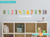 Modern NumbersFabric Wall Decals - Rainbow - Sunny Decals