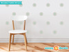 Flower Fabric Wall Decals - Set of 28 Flower Pattern Decals - Aqua - Sunny Decals