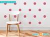 Flower Fabric Wall Decals - Set of 28 Flower Pattern Decals - Dark Pink - Sunny Decals