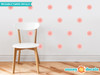 Flower Fabric Wall Decals - Set of 28 Flower Pattern Decals - Light Pink - Sunny Decals