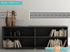 """Greek Key Wall Border Fabric Wall Decal - Black and White - Set of Two 24"""" x 6"""" Sections - Sunny Decals"""