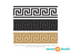 """Greek Key Wall Border Fabric Wall Decal - Detailed - Set of Two 24"""" x 6"""" Sections - Sunny Decals"""
