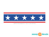 American Stars Wall Border Fabric Wall Decal - Detailed - Sunny Decals