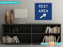 Rest Area Sign Fabric Wall Decal - Sunny Decals