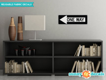 One Way Sign Fabric Wall Decal - Sunny Decal