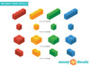 Building Block Bricks Fabric Wall Decals - Detailed - Sunny Decals