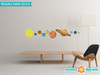Solar System Fabric Wall Decals - Small - Sunny Decals
