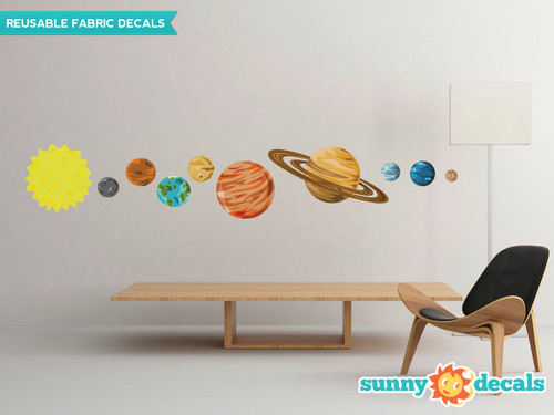 Solar System Fabric Wall Decals - Large - Sunny Decals