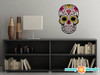 Sugar Skull Fabric Wall Decal - Day of the Dead Wall Decor - Heart - Sunny Decals