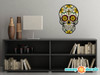 Sugar Skull Fabric Wall Decal - Day of the Dead Wall Decor - Cross - Sunny Decals