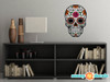Sugar Skull Fabric Wall Decal - Day of the Dead Wall Decor - Flower - Sunny Decals