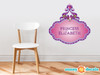 Princess Fabric Wall Decal with Custom Name - Purple - Sunny Decals