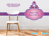 Princess Fabric Wall Decal with Custom Name - Frozen - Sunny Decals