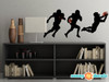 Football Silhouette Fabric Wall Decals - Set of 3 Football Players Wall Stickers - Large - Sunny Decals