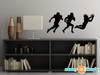 Football Silhouette Fabric Wall Decals - Set of 3 Football Players Wall Stickers - Samll - Sunny Decals