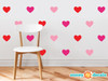 Heart Fabric Wall Decals - Set of 23 Hearts - 20 Color Options - Multi Color - Sunny Decals