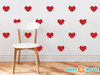 Heart Fabric Wall Decals - Set of 23 Hearts - 20 Color Options - Red - Sunny Decals