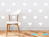 Heart Fabric Wall Decals - Set of 23 Hearts - 20 Color Options - White - Sunny Decals