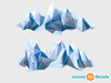 Geometric Mountain Fabric Wall Decal - Modern Mountain Range Wall Art - Detailed - Sunny Decals